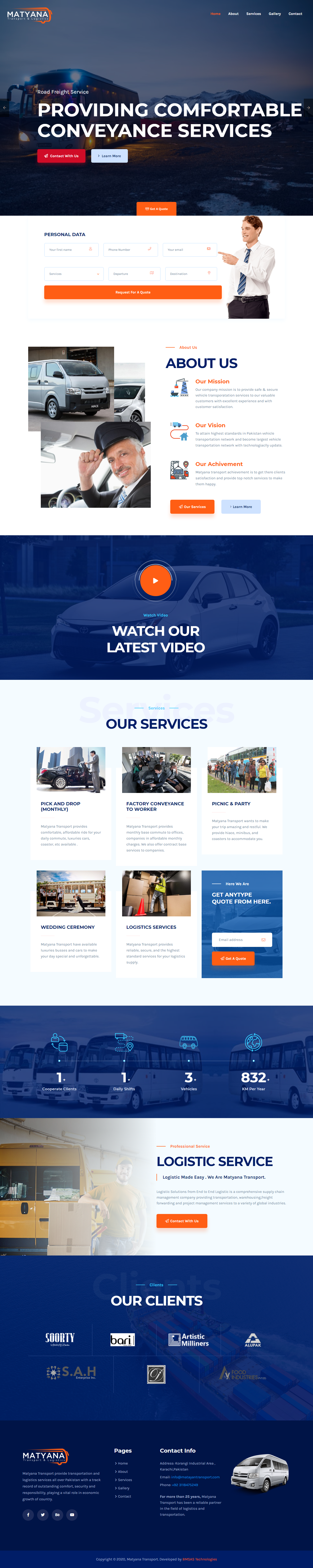 Matyana Transport portfolio image