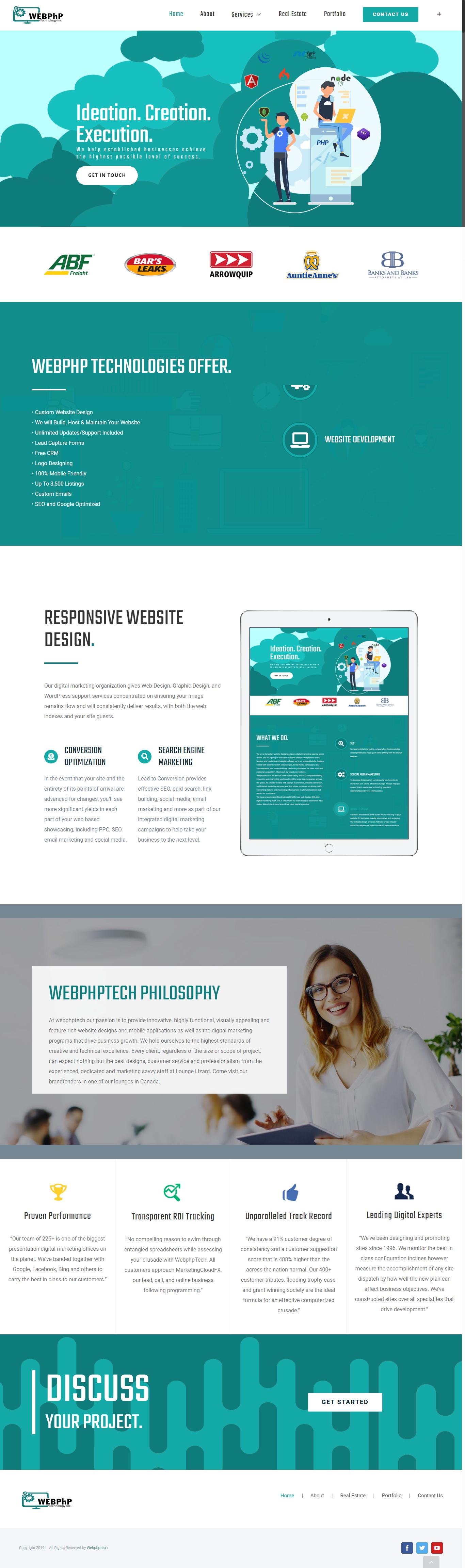 webphptech portfolio image